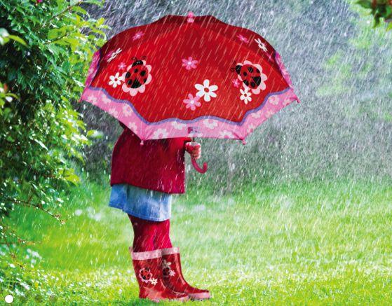 Let it rain!!  Cute kids umbrella, rain jacket, and rain boots!  #stephenjoseph #raingear