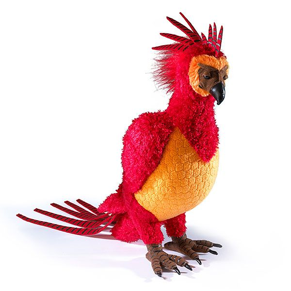 Get your own personal phoenix for all your feisty magical bird needs. This Fawkes plush stands over a foot tall and would probably attack a basilisk for you if you asked with real loyalty. At least, a plush basilisk.