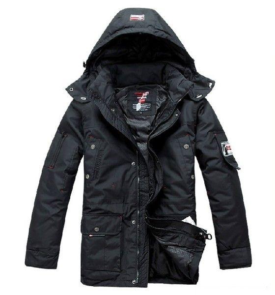 【天天特价】冬季挪威男士羽绒服男装外贸原单可脱卸加厚加大码