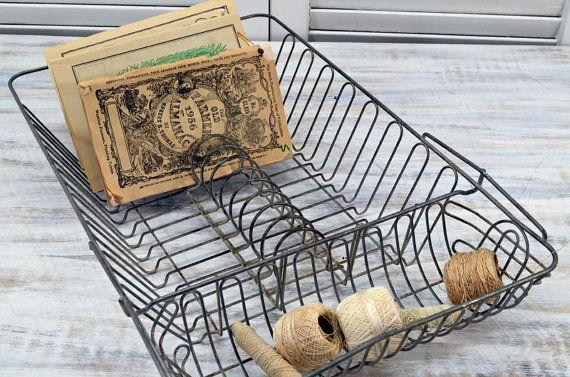 Wire Dish Drainer - kitchen dish draining rack available from Old Time Pickers