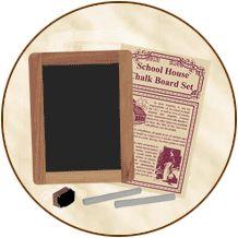 Schoolhouse Chalkboard Set
