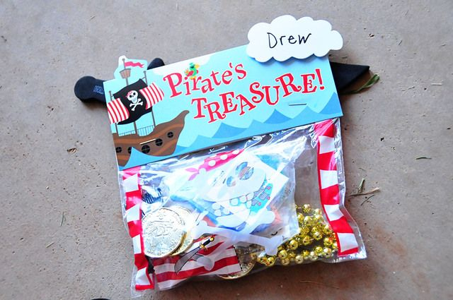 Favors from a Pirate Party #pirate #partyfavors