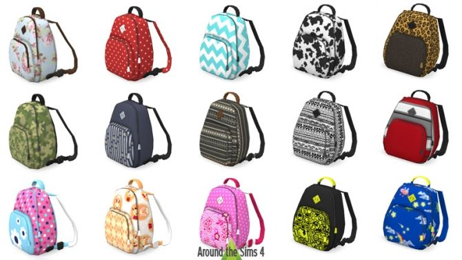 Backpacks Clutter by Sandy at Around the Sims 4 • Sims 4 Updates