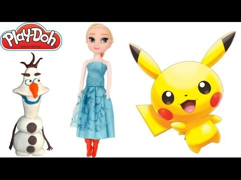 How To Make Play Doh Elsa Toy Character Stop Motion Animation Compilation Disney…