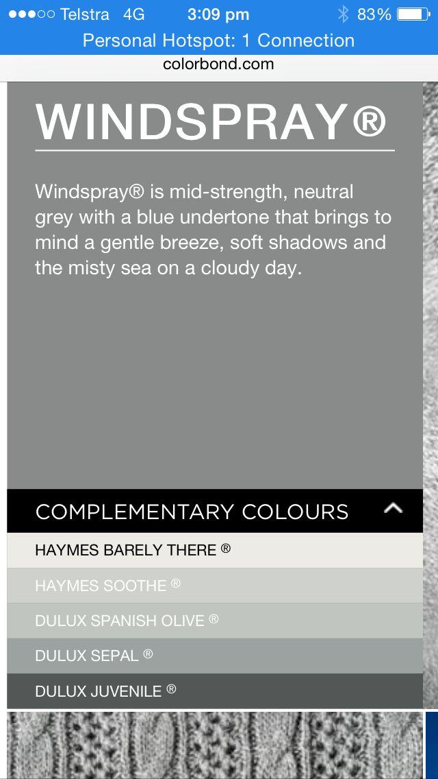 Windspray colour bond
