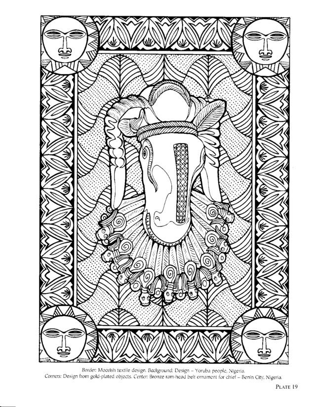 african design coloring pages - photo#15