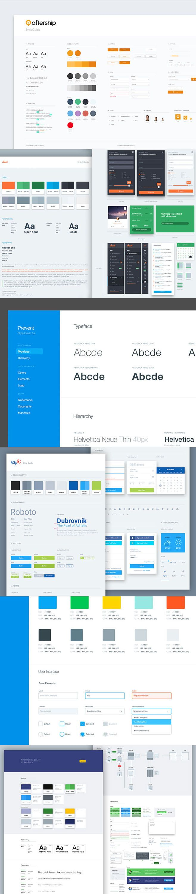 UI style guide created to keep as a reference and make sure the user interface is consistent across the board. It helps build your app by ensuring that typography and UI elements are used in the same way all the time, hooked directly into the same CSS so that any updates will be automatically reflected in the guide.