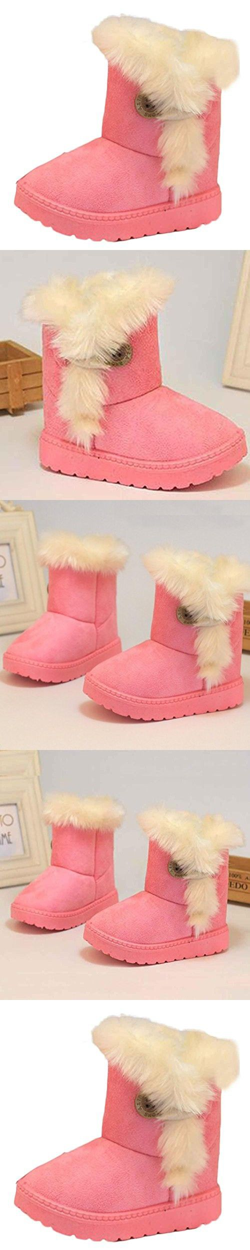 GBSELL Pretty Winter Baby Girls Toddler Snow Boots Warm Shoes (Pink, 1-2 Year)