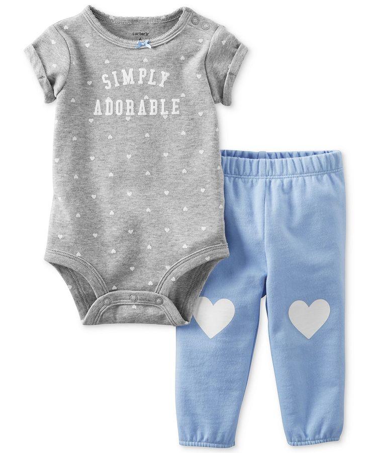 Carter's Baby Girls' 2-Piece Bodysuit  Pants Set - Kids Baby Girl (0-24 months) - Macy's