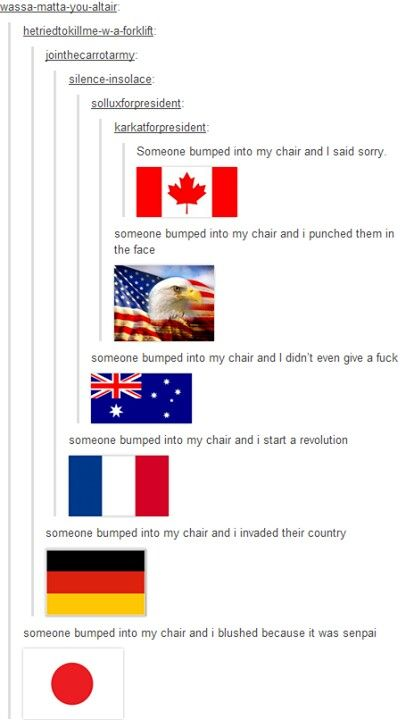 America has an eagle on their flag XD