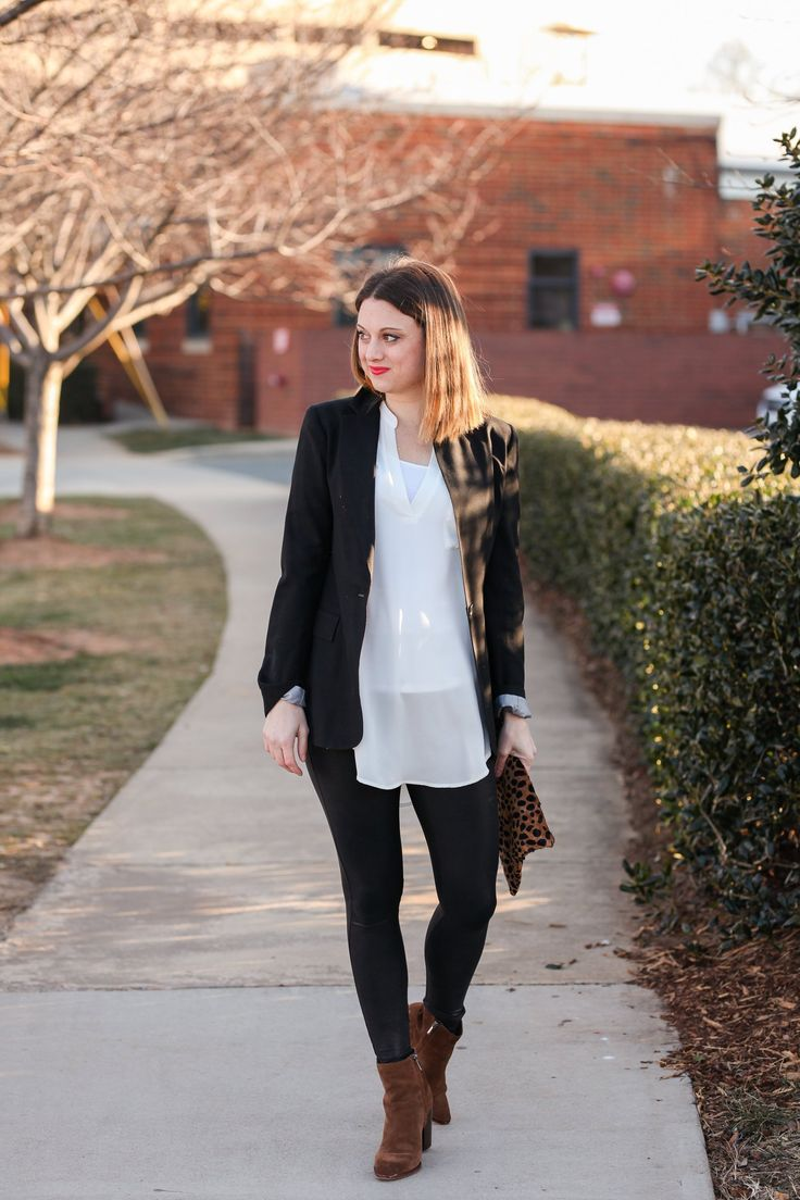 Business Casual Outfit With Yoga Pants