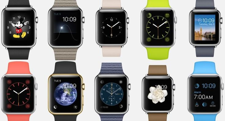 Apple Watch watch faces and versions. fully customizable in apperance