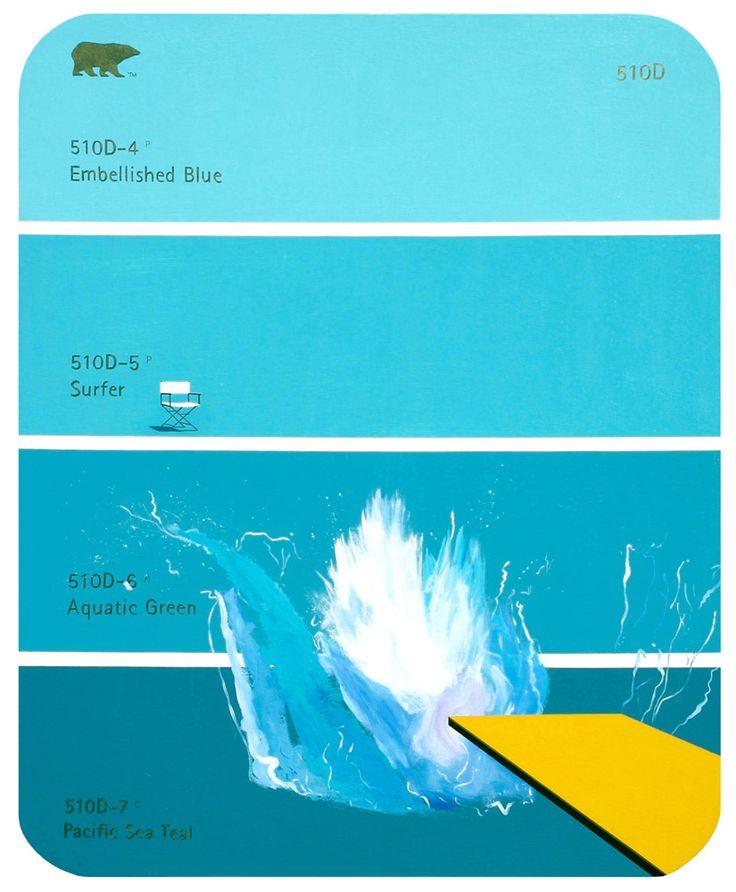 Shawn Huckins: Paint Chip Series