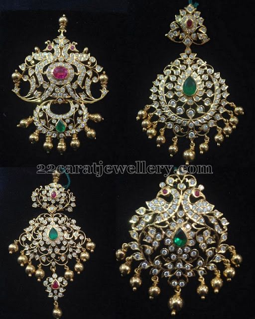 Closed Setting Diamond Pendants - Jewellery Designs