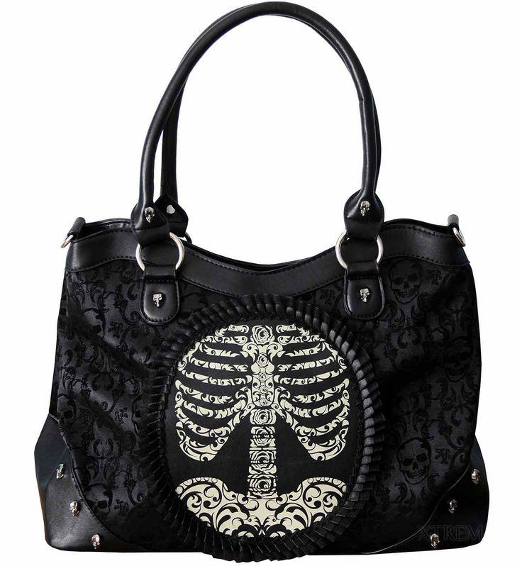 Bolso Esqueleto Camafeo Banned #skeleton #calavera #skull #cameo #gotico #gothic #alternative #xtremonline