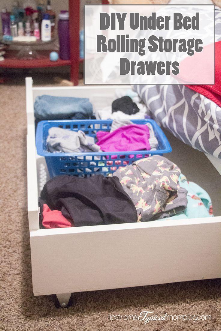DIY Under Bed Rolling Storage Drawers. #DIY #Tutorial #StorageIdeas: