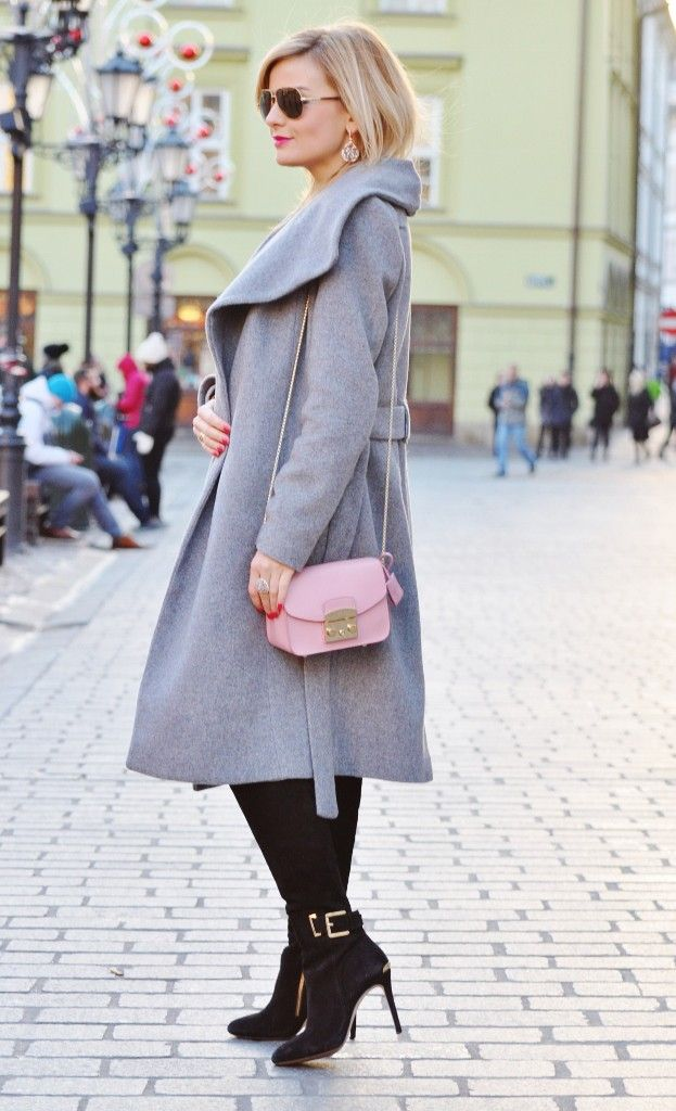 style, fashion, stylizacja, Mango, grey, szary, Furla, bag