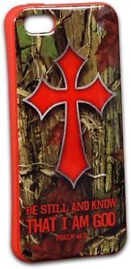 Camo Cross Be Still and Know Cell Phone Case for iPhone 5 5S by Kerusso www.Gods411.org