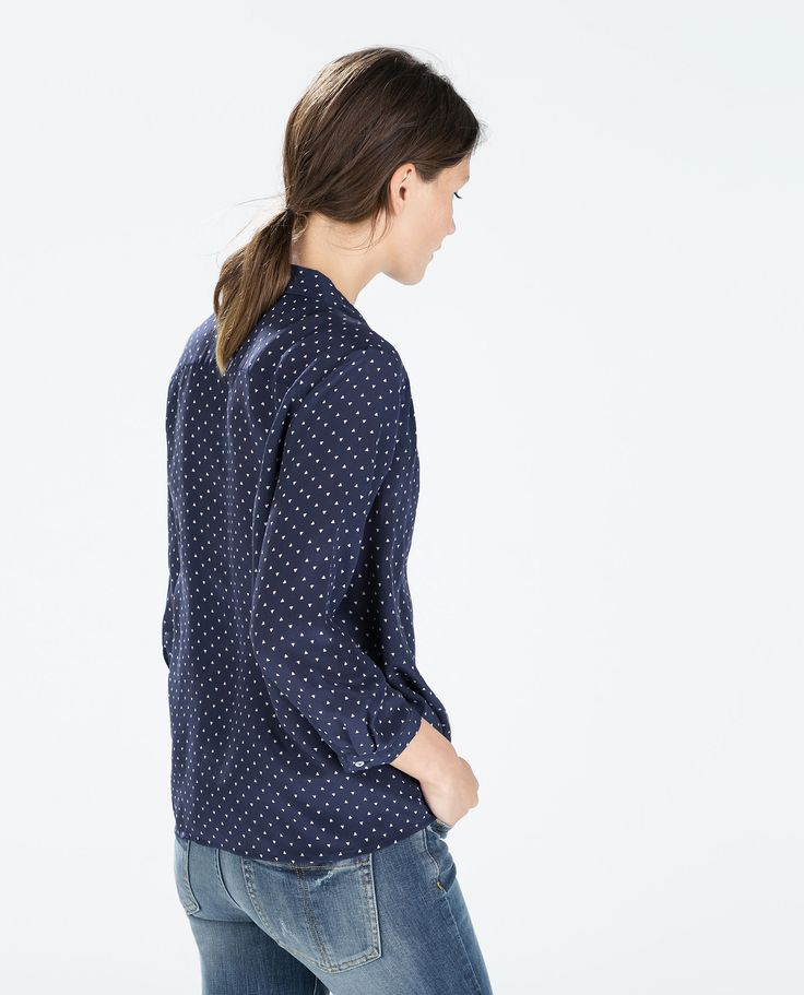 Image 3 of PRINTED SILK BLOUSE from Zara