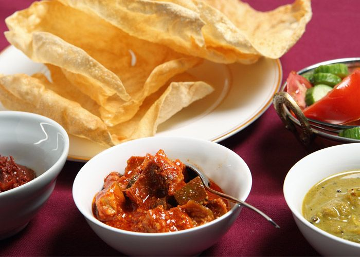 Indian Dipping Platter. Make your own mango chutney, red onion relish and cucumber riata and enjoy with pitta bread!