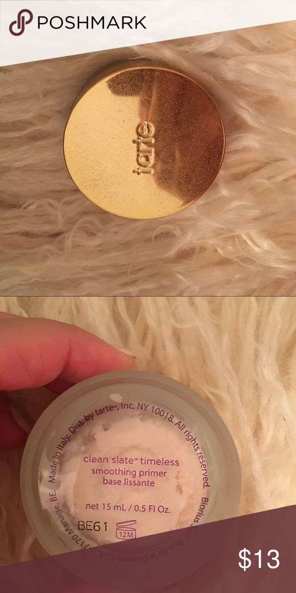 Tarte primer It got melted while being shipped to me and looks kinda weird in the jar but I've never used it tarte Makeup