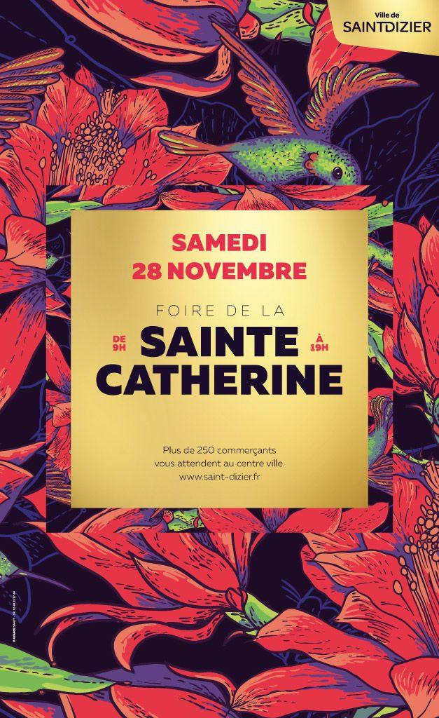Affiche de la Foire de la Sainte Catherine, samedi 28 novembre 2015 à Saint-Dizier