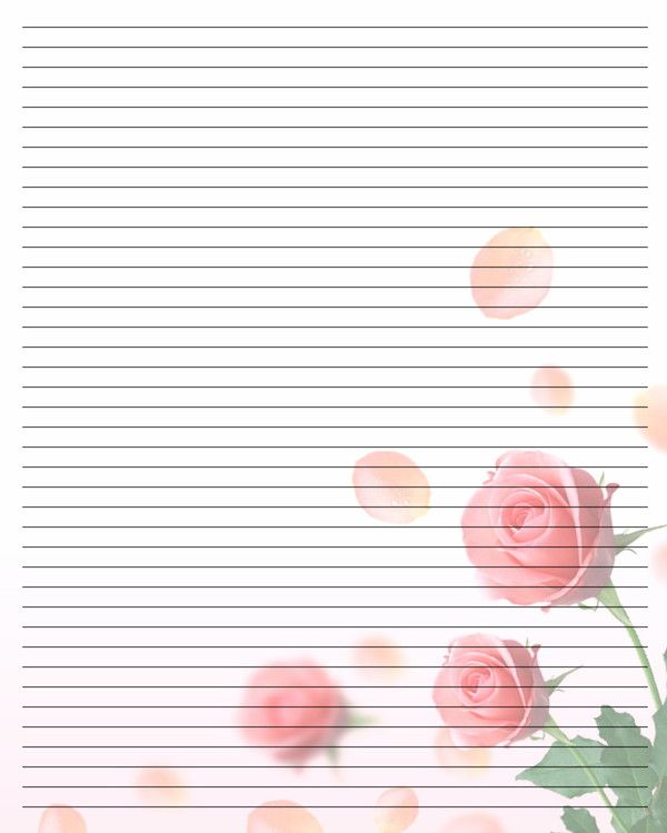 Lovely Free Printable Writing Paper Printable Writing Paper By Pertaining To Diary Paper Printable
