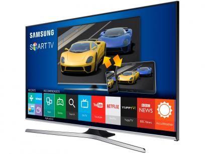 """Smart TV LED 40"""" Samsung Full HD Gamer UN40J5500 - Conversor Digital Wi-Fi 3 HDMI 2 USB com as melhores condições você encontra no Magazine Fariasevoce. Confira!"""