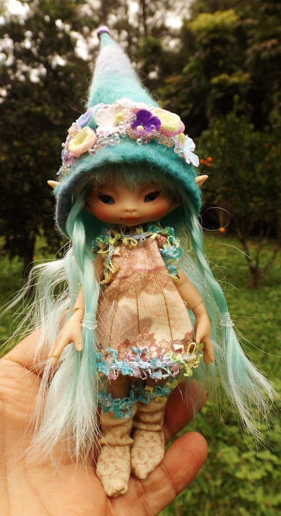 dressed bjd sunkissed lulurose with ooak handmade clothing  fairy fairie elf