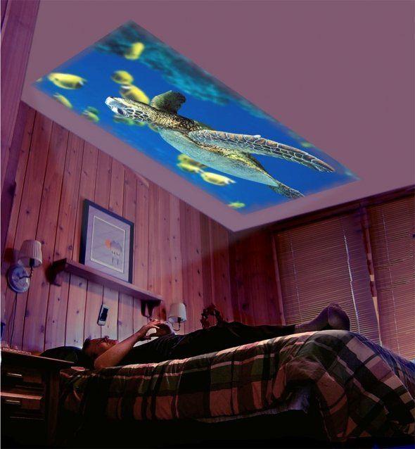 Проектор картинка на потолок