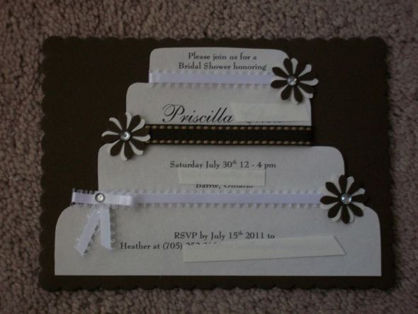 101 best scrapbook and invitation ideas images on pinterest diy bridal shower invitations 2 ways wedding bridal shower brown diy invitations ivory bridal shower invite filmwisefo