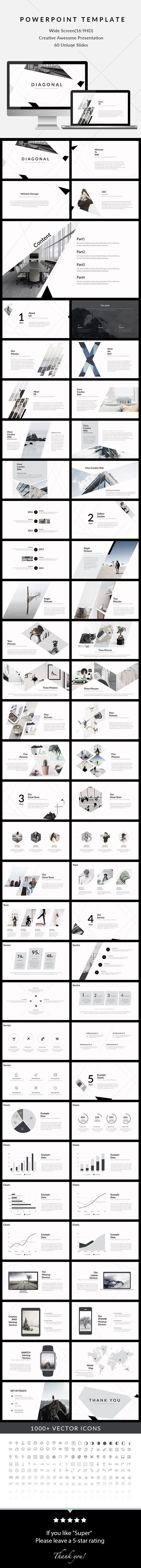 Diagonal - Clean & Creative PowerPoint Presentation #marketing #pptx template • Download ➝ https://graphicriver.net/item/diagonal-clean-creative-powerpoint-presentation/18038771?ref=pxcr