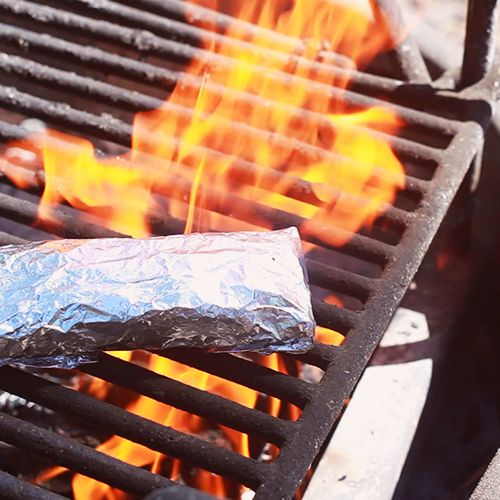 breakfast burrito breakfast -- camping style