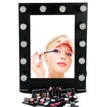 Professional Hollywood style Aluminum makeup mirror with lights, 12pcs light bulb artist cosmetic mirror Professional Hollywood style Aluminum makeup mirror with lights, 12pcs light bulb artist cosmetic mirror