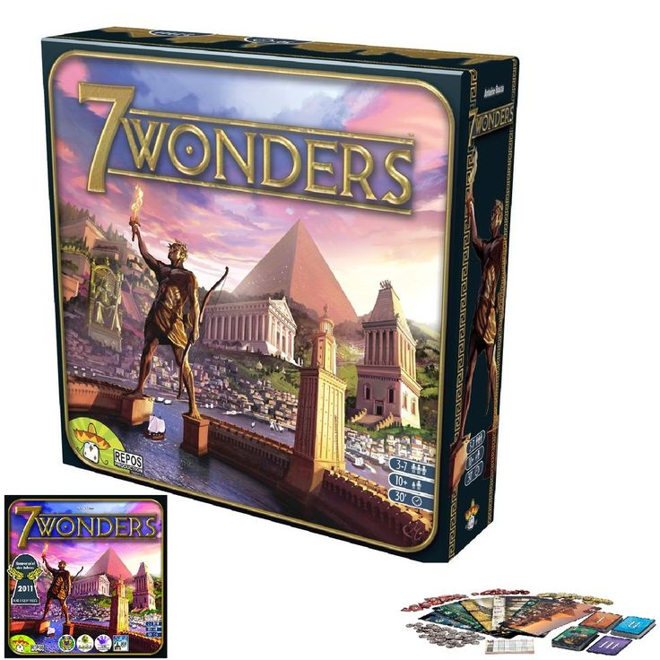 7 Wonders Board Game Replacement Expansion Game Babel SetTower Token Sheet Card #Asmodee