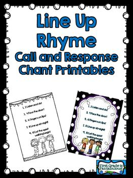 This fun little Line Up Rhyme is a call and response chant to get your students lining up properly.  Teach the rhyme in those first few days of school so that your lining up procedure becomes easy to manage.