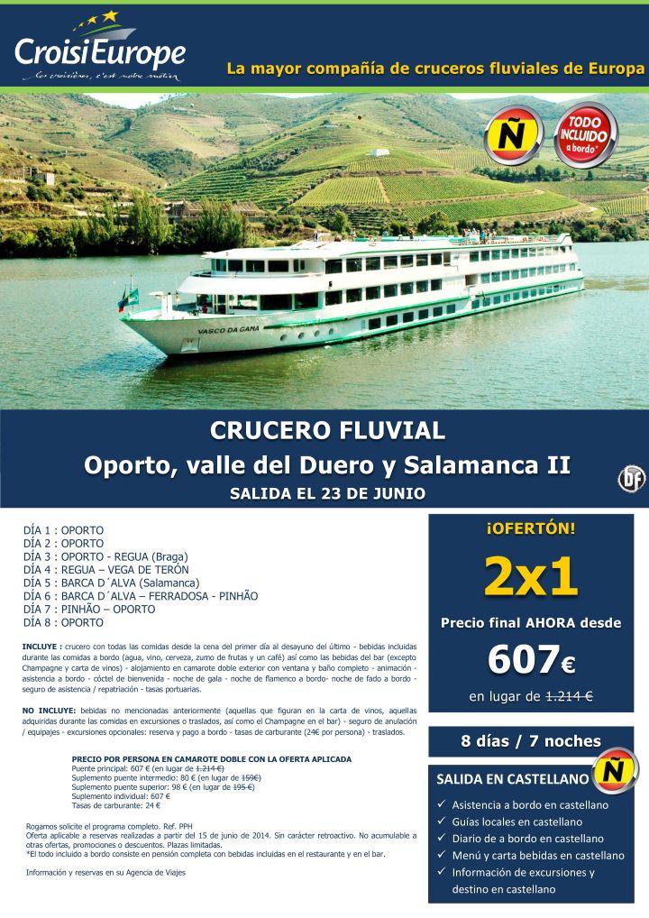 Oferta 2x1: Crucero fluvial de 8 días por el Duero ultimo minuto - http://zocotours.com/oferta-2x1-crucero-fluvial-de-8-dias-por-el-duero-ultimo-minuto/