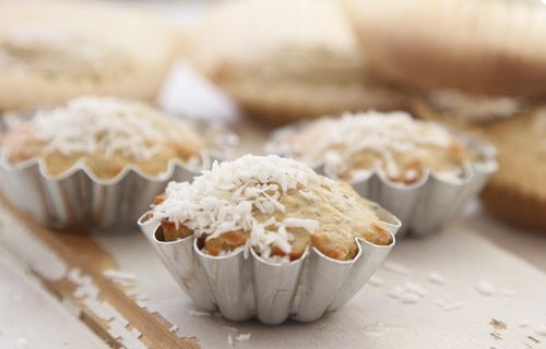 Healthy coconut/apple muffins for kids. www.babybite.dk