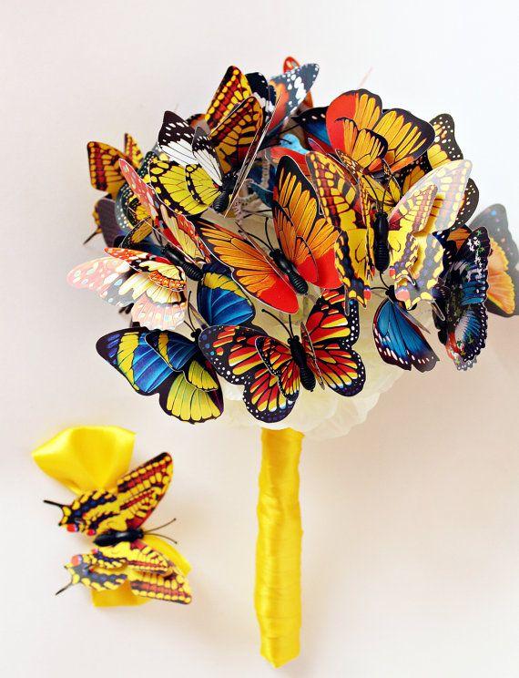 Бабочка Букет сказок Свадебные букет Многоцветный Подруга подарков летие День рождения Идеи подарков для помолвки Мать