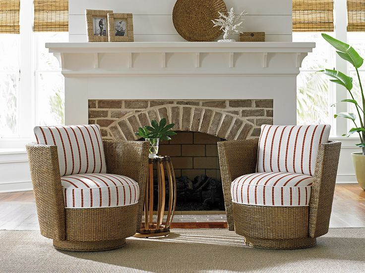weu0027re loving these tommy bahama tarpon cay swivel chairs for a relaxed beach home