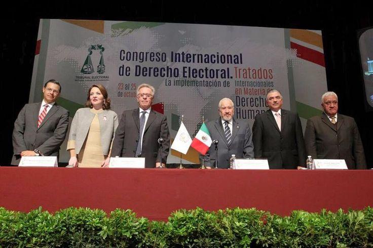"""Imagen para """"Congreso Internacional de Derecho Electoral. La implementación de Tratados Internacionales en materia de Derechos Humanos"""""""