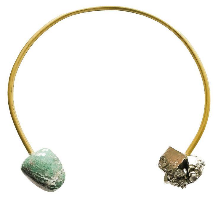 Amazonas Necklace | Pyrite Amazonite | FLAT 128