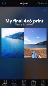 PicFrame tutorial for printing 2 pics on a 4x6 for Project Life