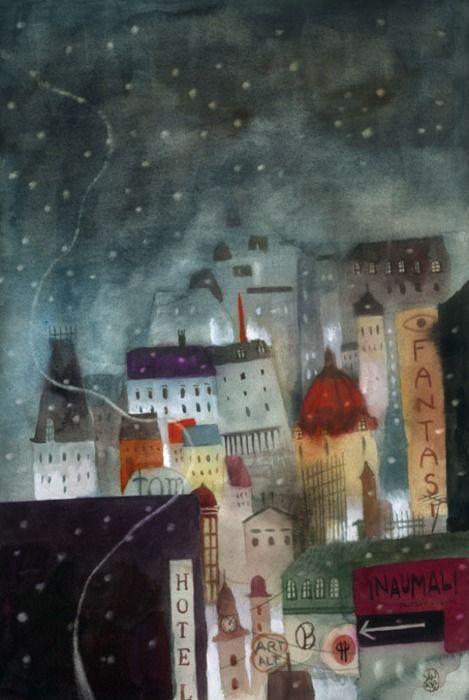 by José SanabriaDrawing Art, Art Prints, Http Www Josesanabria Com Ar, Cityscapes Illustration, Children Illustration, House, Painting, José Sanabria, Jose Sanabria