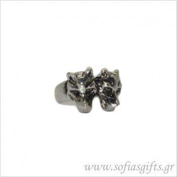 Ανδρικό δαχτυλίδι λύκοι - Είδη σπιτιού και χειροποίητες δημιουργίες | Σοφία #ανδρικα #δαχτυλιδια #κοσμηματα #andrika #daxtylidia #kosmhmata