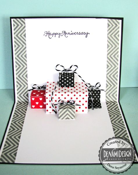 DeNami Design Blog: Washi Tape Pop-Up Card Tutorial by Dana