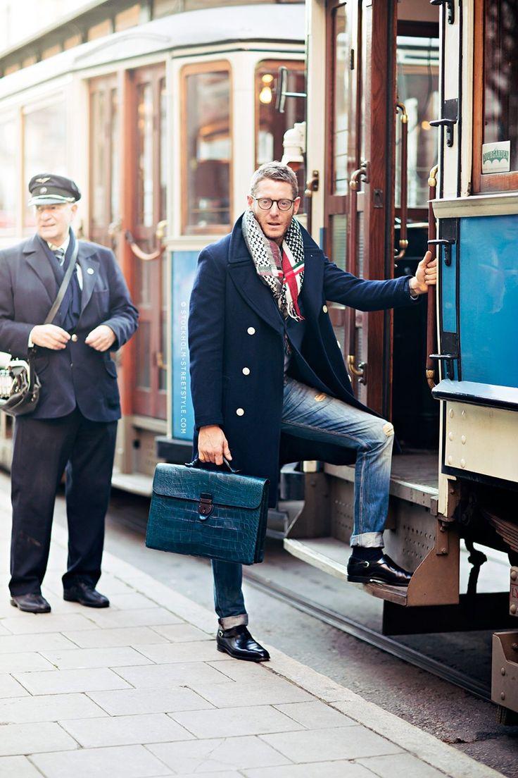 lapo elkann coat briefcase