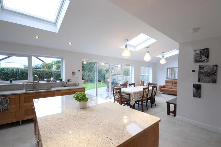 Single Storey Rear Family Room Extension Building Regulations Approval In Flintshire Kitc Room Extensions Open Plan Kitchen Living Room Kitchen Family Rooms