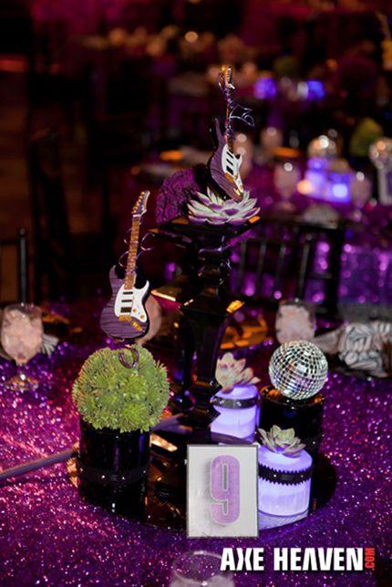 Brad Austin, Event Decor Design, Wedding, Party, Provide Unforgettable Memory, Axe Heaven Miniature Guitars | AXE HEAVEN® Miniature Guitars ...