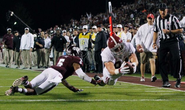 Alabama touchdown against Miss. St.  Nov. 16, 2013.  Roll Tide. 20-7  That's the way I like it!